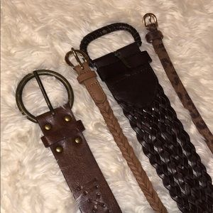 Accessories - 4 DIFFERENT BELTS - ALL SZ SMALL